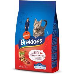 Brekkies Pienso para Gatos con Buey Ternera y Verdura